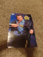 BIG BOSS MAN POSTER 17x11 wwf wrestling