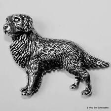 Golden Retriever Pewter Pin Brooch - British Hand Crafted - Flatcoat Gun Dog