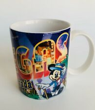Rare Disney Mickey & Minnie Mouse Coffee Mug Greetings From Las Vegas Nevada