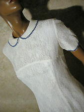 CHIC VINTAGE ROBE DENTELLE 1960 VTG DRESS 60s LACE KLEID 60er ABITO RETRO (38)
