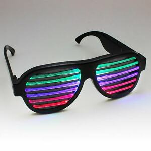 Equalizer LED Brille Party Festival Musik gesteuert hingucker eyecatcher gadget