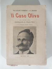 Cesare Lombroso, Il caso Olivo con l'aggiunta della autobiografia