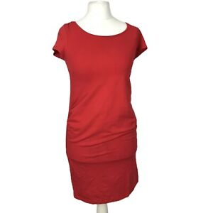 H&M Mama Eur M Size 12 Red Casual Short Sleeve Stretch Maternity Bodycon Dress