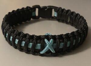 Prostate Cancer Awareness *  Paracord Bracelet