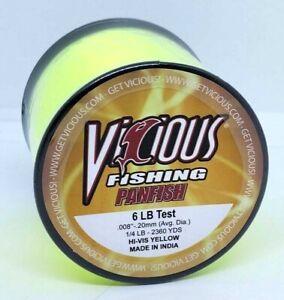 VICIOUS PANFISH HI-VIS YELLOW FISHING LINE