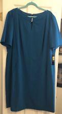 NWT Fabulous Tahari Teal Dress Size 20 W