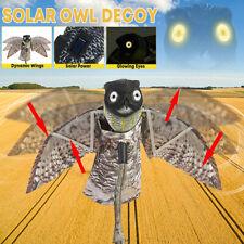 Dynamic Moving Wings Scare Owl Decoy Pest Repellent Birds Garden Yard Decor