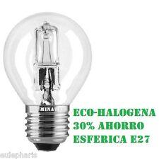 Bombilla Ahorradora Esferica E27 ECO-HALOGENA 28w=40w Bajo Consumo 30%ahorro