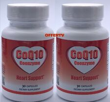 2 Coq10 Coenzyme Cardiovascular Heart Health & Energy Support 30mg 60 Capsules