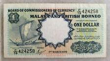 (C) $1 Dollar BOCOC Malaya - C/19 424258 (VF)