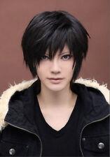Hight Quality DuRaRaRa Orihara Izaya Wig Black Short Cosplay Wig + Wig Cap