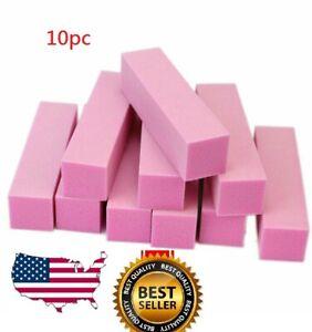 10Pcs Buffing Buffer Block Files Acrylic Pedicure Sanding Manicure Nail Art Tips