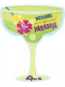 """28"""" Margarita Glass Mylar Foil Balloon, Tropical Drink, Party Supply Decoration"""