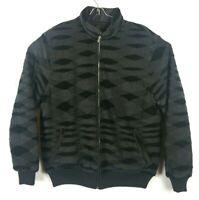 Missoni Sport Pattern Men Reversible Puffer Padded Wool Coat Size 56 Jacket