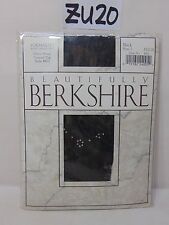 VINTAGE BERKSHIRE PANTYHOSE HOSIERY BEAUTIFULLY SZ 1 BLACK FORMALITY RIGHT ANKLE