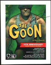 Eric Powell Signed / Autograph THE GOON Dark Horse Comics Promo Art Post Card