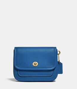 Coach Limited Edition Mini Rambler Belt Bag 833 Bright Mineral Blue
