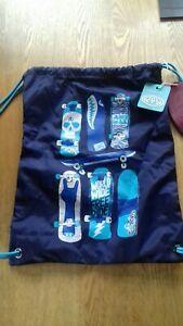 "Drawstring Gym  Bag- Blue,by ANIMAL, size 12""x 16"" drawstring, RARE,"