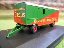 OXFORD BERTRAM MILLS CIRCUS LORRY TRAILER 1/76 76STR001