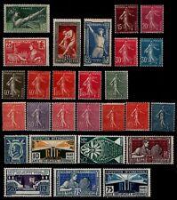 L'ANNÉE 1924 Complète, sauf les n°188, Neufs * = Cote 211 € / Lot Timbres France