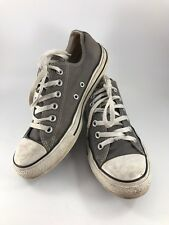 MEN'S 7/WOMEN'S 9 GRAY & WHITE CONVERSE ALL STAR CANVAS SNEAKERS/TENNIS SHOES