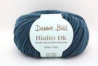 "50g Debbie Bliss ""Rialto DK"" 8-Ply Extrafine Merino Wool Yarn - Colour Group 1"
