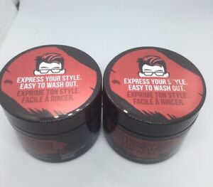 Lot of TWO AXE Hair Paint Red temporary color styling paste 2.3oz Each Free Ship