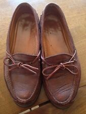 HS Trask Brown Leather Loafers Mens Size 9.5M.    1