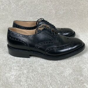 Trickers Men's 9.5 UK, 10.5 US Newbury Brogue Dress Shoes Wing Tip Black