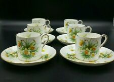 More details for hammersley 'daffodils' flat demitasse coffee cups and saucers- good condition