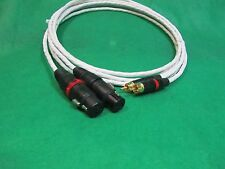 3' FT PURE SILVER PLATED MIL-SPEC RCA TO BALANCED XLR FEMALE INTERCONNECT CABLE.