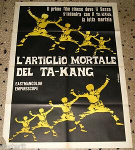 manifesto 2F film L'ARTIGLIO MORTALE DEL TA-KANG - 1973 Kung Fu