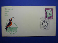 LOT 12518 TIMBRES STAMP ENVELOPPE MUSIQUE URUGUAY ANNEE 1972
