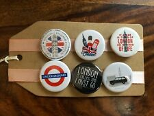 London, England - Pin Badge Set