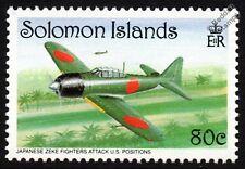 Mitsubishi A6M ZERO (Zeke) Fighter Aircraft Stamp (WWII Guadalcanal)