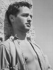 "SAL MINEO - 10"" x 8"" b/w Sexy Bare Chested Photograph 1950s"