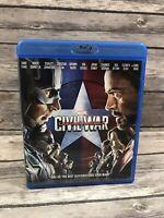 Captain America: Civil War (Blu-ray Disc, 2016) Marvel MCU Chris Evans VG