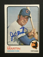 JC Martin Cubs signed 1973 Topps baseball card Semi High #552 Auto Autograph 2