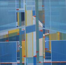 """Raro Brian George Original """"sur Pier Lowestoft"""" Suffolk pintura al óleo abstracta"""