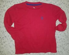 Boys Red Polo Long Sleeve Ribbed Shirt/Sweater Size 5/6