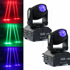 2PCS 50W RGBW LED Beam Stage Lighting Moving Head DMX Disco Party Effect Lights