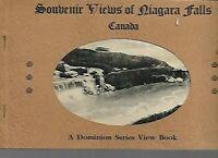 A- Vintage 1900's - Views of Niagara Falls Canada Souvenir B&W Photo View Book