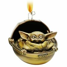 Disney Store The Child Bronze Toned Ornament The Mandalorian Christmas Yoda