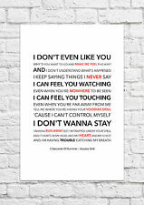 5 Seconds of Summer (5SOS) - Voodoo Doll - Song Lyric Art Poster - A4 Size