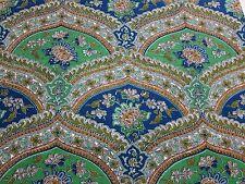 4 yds Paisley mid-century barkcloth traditional linen 5th Avenue Design inc.