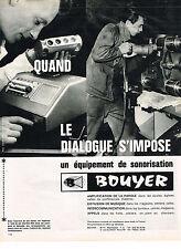 PUBLICITE  1964   BOUYER   sonorisation