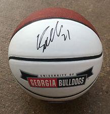 Georgia Bulldogs #21 Dominique Wilkins Signed Autographed Logo Basketball Coa!