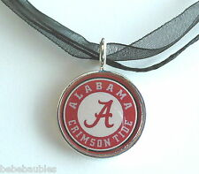 University of ALABAMA UA Necklace Silver Sp Licensed Roll Tide National Champs