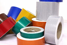 NEW IN HIGH INTENSITY REFLECTIVE SELF-ADHESIVE TAPE/ VINYL HONEYCOMB CHOOSE SIZE