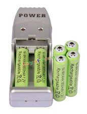 6 XAAA1800mah1.2V NiMH rechargeable battery Green +USB Charger MP3